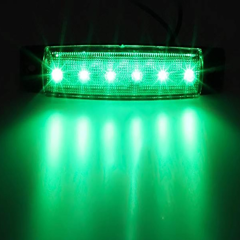 Automotive exterior light LED 12 24V 6 SMD LED car truck truck side marking light low LED trailer light rear side light in Signal Lamp from Automobiles Motorcycles