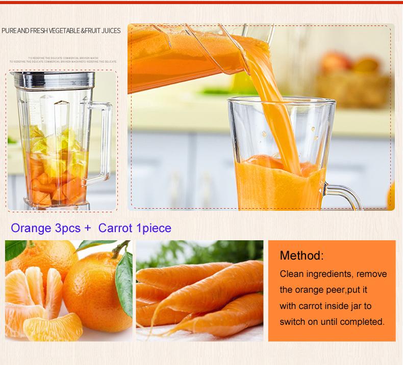 BPA Free 3HP 2200W Heavy Duty Commercial Grade Blender Mixer Juicer High Power Food Processor Ice Smoothie Bar Fruit Blender 14