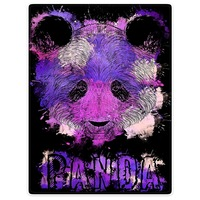 HommomH 60X80 Blanket Throw Comfort Warm Soft Plush Throw For Sofa Purple Panda Splash Bear Colorful