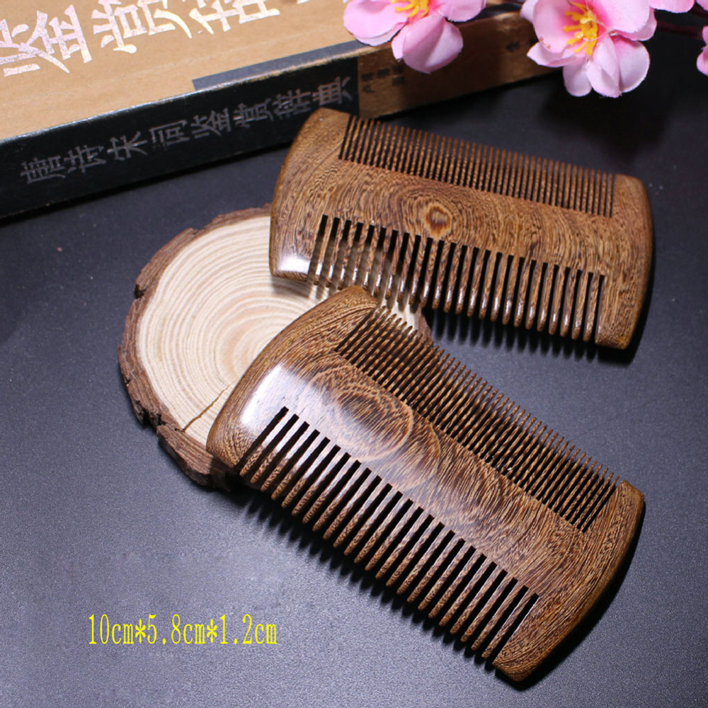 EQLEF/® Sandalwood Comb Horn Wooden Hair Comb Anti Static Natural Wooden Massage Combs Standard Tooth