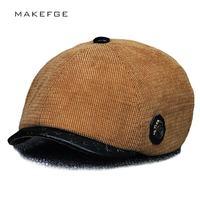 Autumn And Winter Men Women Octagonal Cap Gatsby Beret Hats Vintage Cabbie Flat Cap High Quality
