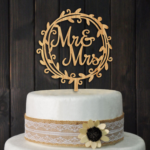 Rustic mr and mrs wedding cake topper wedding party bridal shower rustic mr and mrs wedding cake topper wedding party bridal shower cake decoration centerpieces junglespirit Images