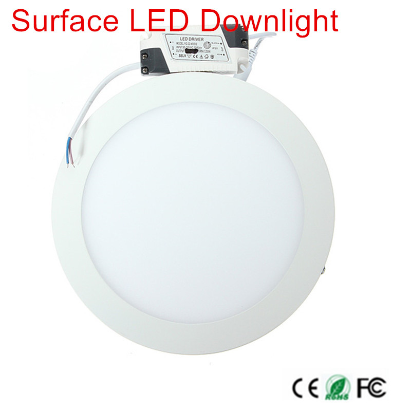 No Cut ceiling 9w 15w 25w 30w Surface mounted led downlight Round panel light SMD Ultra thin circle ceiling Down lamp kitchen
