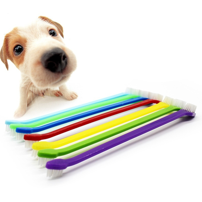 1pcs Random Color Pet Dog Cat Tooth Brush Teeth Care Home Dog Cleaning Supplies CRYXZ3