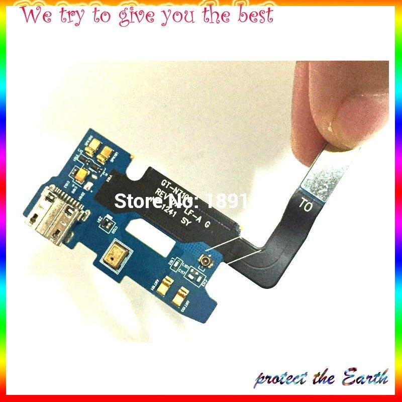 USB разъем зарядный порт гибкий кабель для samsung galaxy Note 2 N7100 микро usb Порт Шлейф Запасные части