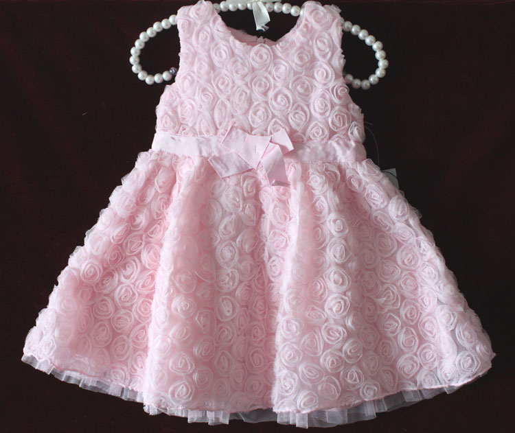 f9f3e2ff5757 Baby girl Matalan female child three-dimensional rose dress 100% cotton  lining