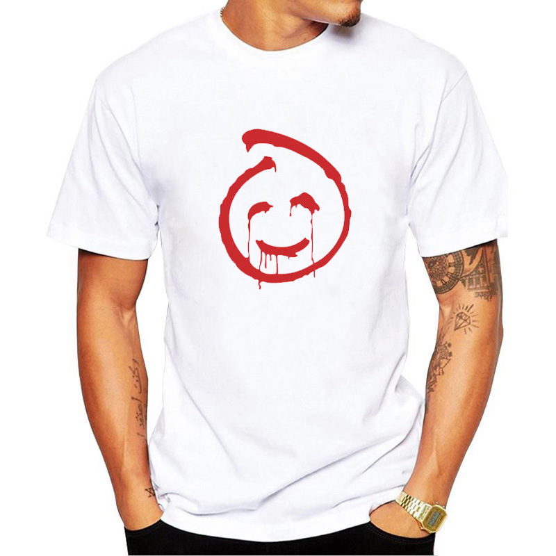 2019 Fashion T Shirt Men for The Mentalist Red John Smile Face Cool Men's O-Neck Printed T-shirts Short Sleeve Tee Shirts