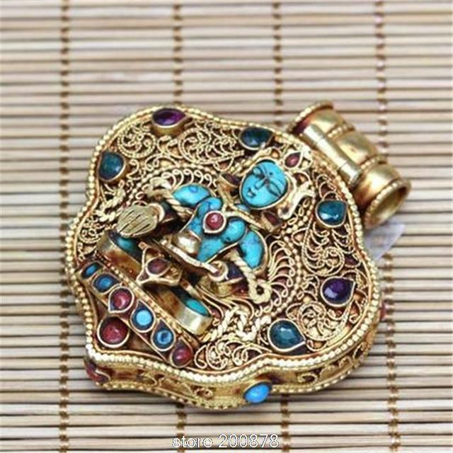 T9179 fine jewelry tibetan buddha tara prayer box amulet nepal 925 t9179 fine jewelry tibetan buddha tara prayer box amulet nepal 925 sterling silver pendant gold aloadofball Image collections