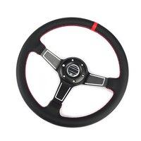 عالية الجودة 14 ''350 مللي متر أسود حقيقي جلدي ND رالي ضبط الانجراف سباق عجلة القيادة SPCO
