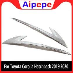 Dla Toyota Corolla Hatchback 2019 2020 ABS Chrome tylne światła tylne światła lampa dekoracji powieki pokrywa wykończenia 2 sztuk samochodów stylizacji