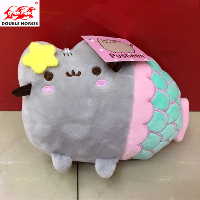 Fun Plush Fluffy Cats Mermaid Toy Pembroke Pillow Soft Stuffed Animal Peluches Dolls Baby Kids Cute Soft Girls Plush Animal Gift plush ocean sea turtle toys soft cute pillow super soft stuffed animal turtle dolls best gifts for kids friend baby 18 5