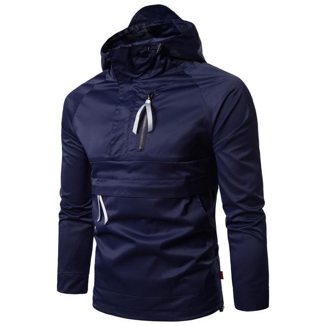 6d472a51d 2017 homens Novos do Outono Jaquetas Casuais Roupas Masculinas Tops  Trabalho Coreano Coats Moda Com Capuz