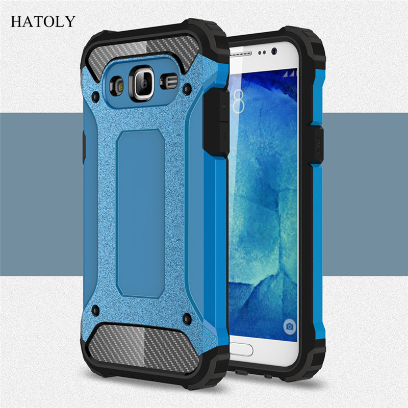 HATOLY For Coque Samsung Galaxy J5 2015 Case Galaxy J5 2015 Heavy Duty Armor Hard Cover Silicone Case for Samsung J5 2015 J500#<
