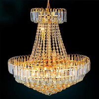 Modern Fashion LED Royal Empire Golden Crystal Chandeliers French Art Lights Luxury Decoration Ceiling Lamps Lighting Christmas