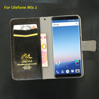 TOP New Ulefone Mix 2 Case 5 Colors Flip Luxury Leather Case Exclusive Phone Cover Credit