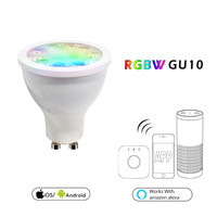 Smart WiFi Bulb GU10 LED Light Bombillas Home Decorative 5W RGBW Lampada Lamp Support Dimmable Work with Alexa/Google Holiday
