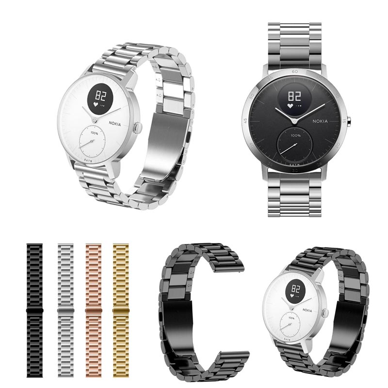 New Arrival Stainless Steel Quick Release Wrist Bands Belt Watch Strap For Nokia Withings Steel HR LL@17