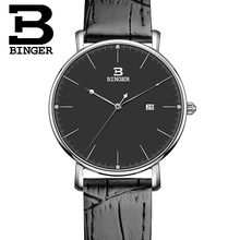 Switzerland BINGER Women's watche luxury brand quartz leather strap ultrathin Complete Calendar Wristwatches Waterproof B3053W-2