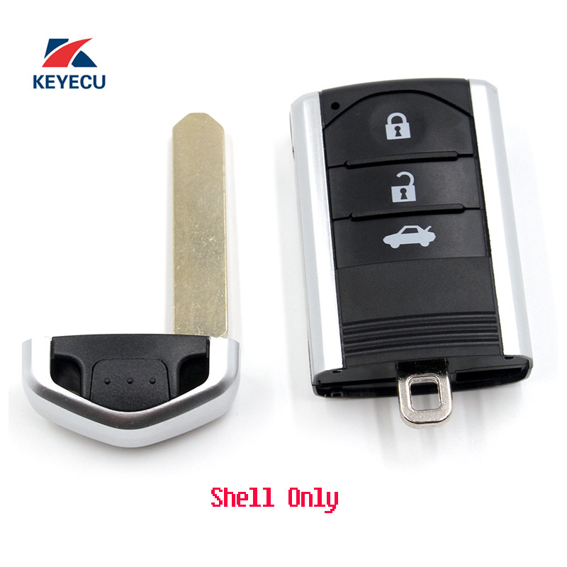 KEYECU Replacement Unuct Remote Car Key Shell Case Fob 3