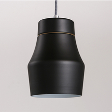 Lámpara colgante de cubierta de olla de hierro Retro de Loft Vintage corto nórdico, lámpara de cocina, comedor, sala de estar, decoración moderna para el hogar, accesorio de iluminación