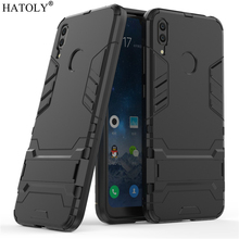 Cover Huawei Y7 2019 Case Rubber Robot Armor Phone Shell Hard Back for Prime