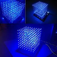 LEORY Wi Fi Connect APP Control Music Spectrum 8x8X8 512 LED DIY 3D LED Light Cube