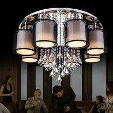 hot deal buy led e27  iron fabirc crystal led lamp led light ceiling lights ceiling lamp led ceiling light for foyer dinning room bedroom