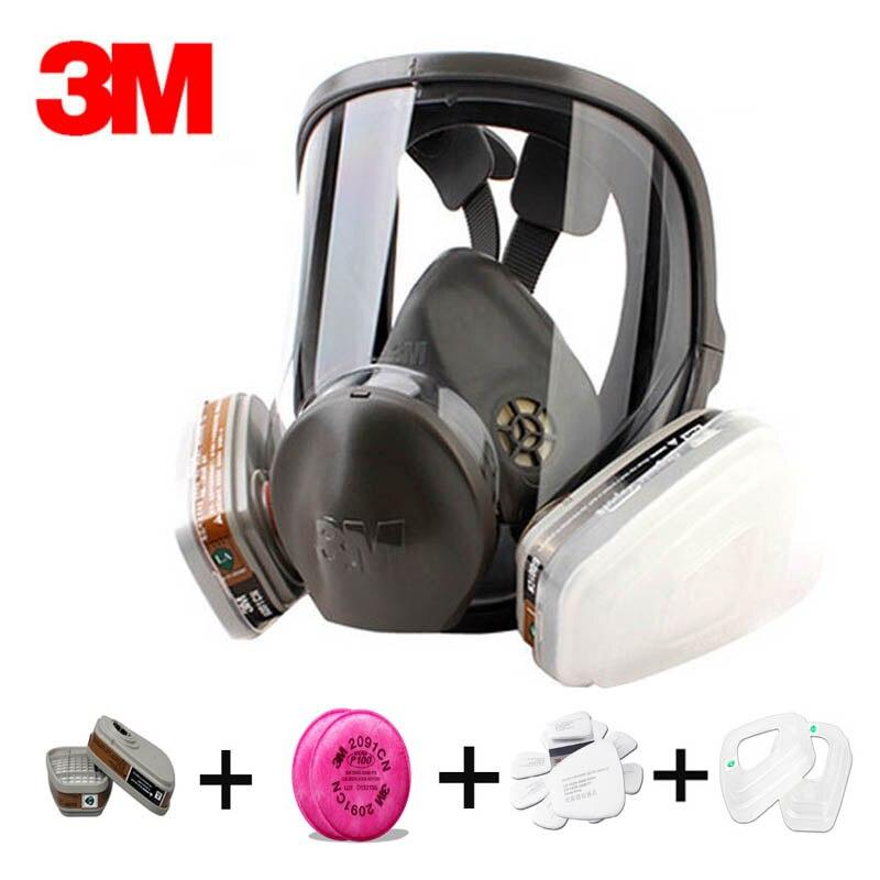 D'origine 3 m 6800 respirateur masque à gaz Marque protection respirateur masque contre les Composés Organiques gaz avec 6001/2091 fiter