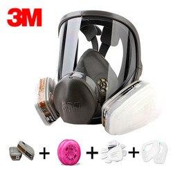 Original 3 M 6800 máscara de gas respirador marca máscara de protección contra gas orgánico con 6001/2091 fiter