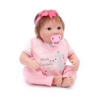 19inch Newborn Dolls in Pink giraffe clothes Lifelike Reborn Dolls Babies soft Silicone Bebe Christmas Gift For Girls big Toy bo