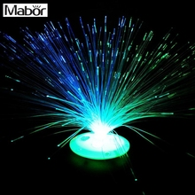 Mabr Цвет Изменение светодиодный волоконно-оптический Ночник светильник стенд декор для детей Рождественский подарок