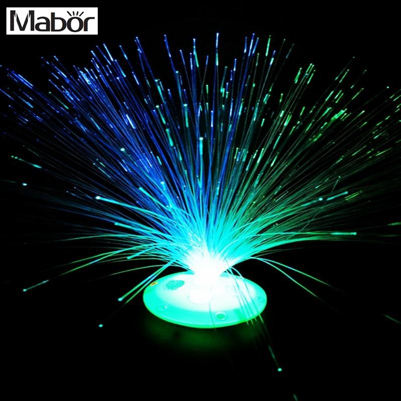 Mabor Mengubah Warna LED Fiber Optic Night Light Lampu Stand Decor Anak Xmas Hadiah