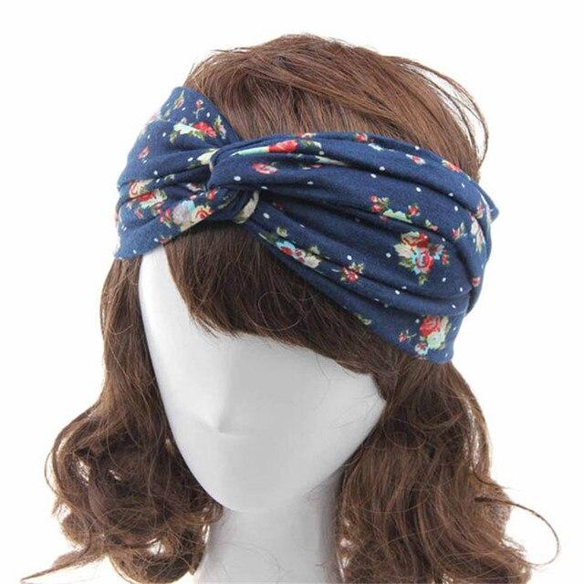 Incroyable Mode Femmes Fleur Imprimé Printemps Torsion Bande De Cheveux Turban Bandeau Bandeau pour les Femmes