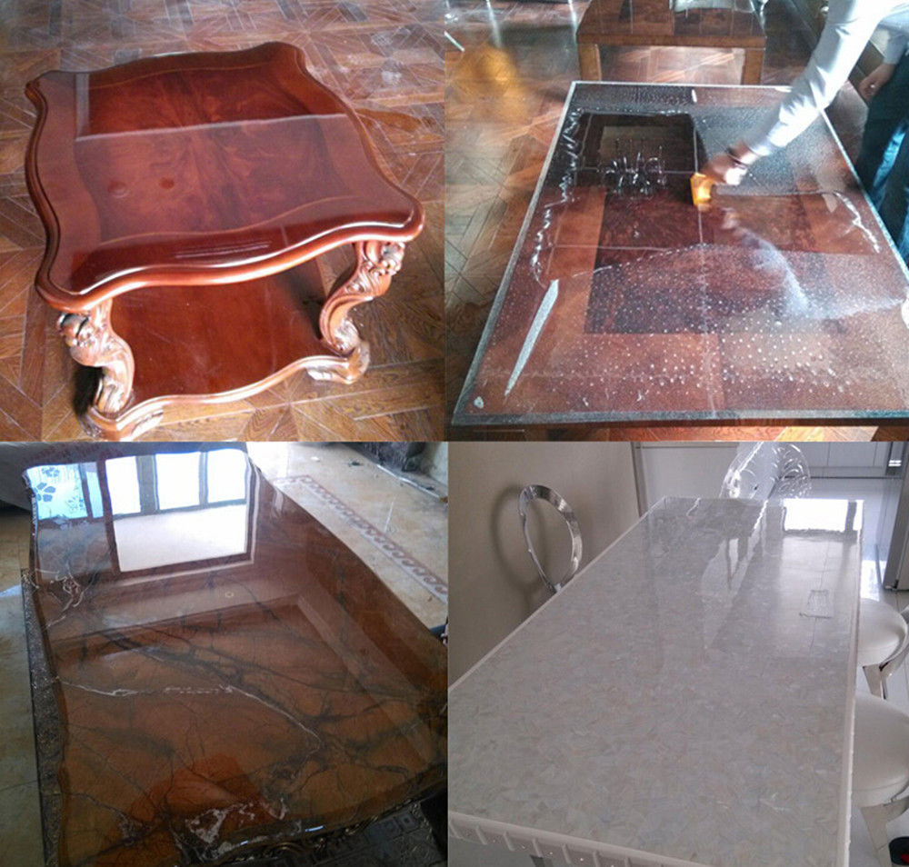 Transparent Paint Coffee Table Marble Desktop Protective Film Kitchen Self Adhesive Wallpaper TB-02G Size 1M X 15M