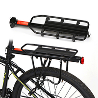 Bicycle Touring Carrier Rack Adjustable Frame Mounted For Heavier Top And Side Loads Black