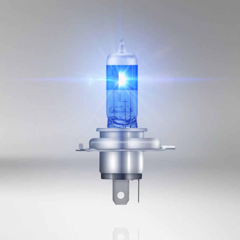 オスラム H4 12V 60/55 ワット 5000 18K 62193CBA クールブルー事前キセノンメガスーパーホワイトハロゲンバルブ車ヘッドライトハイ/ロービーム 50% 以上の光 2 個