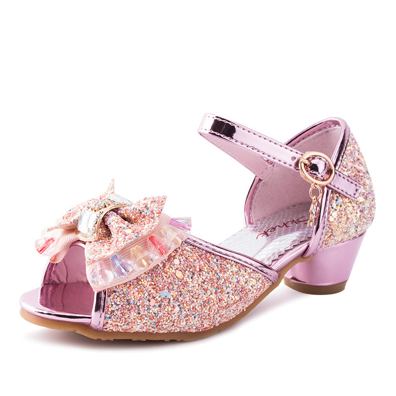 2019 new children's sandals girls high heels Korean ...