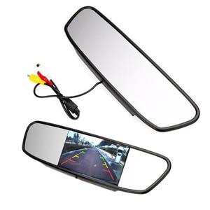 Image 2 - 4.3 นิ้วรถ Monitor ที่จอดรถย้อนกลับกล้อง TFT LCD HD จอแสดงผล/พับ/กระจก Video PAL/NTSC