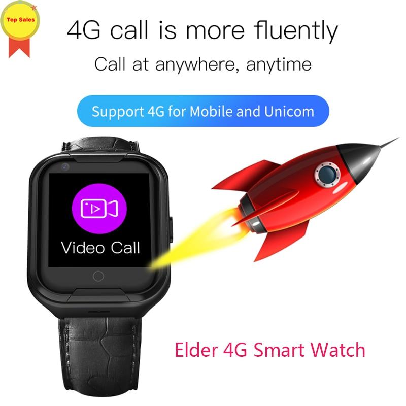 Smart 4G aîné montre GPS position précise appel téléphonique fréquence cardiaque moniteur de pression artérielle vidéo chat 700 mAh montres intelligentes hommes