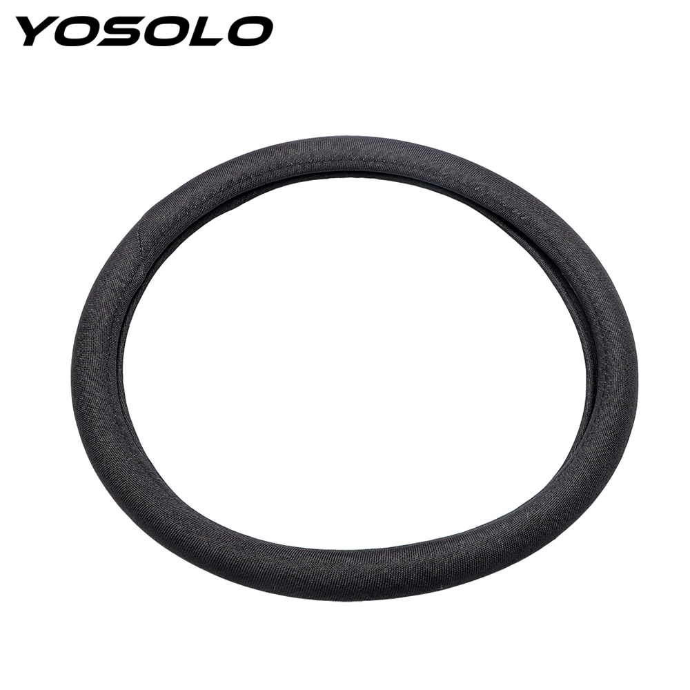 YOSOLO 38cm Steering Wheel Cover for VW Audi Nissan Toyota Flax Car-styling Auto Decoration Car Accessories