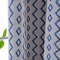 Пользовательские занавески скандинавские простые modrn синие ромбовидные решетки жаккардовые тени для гостиной спальни затемненные занавес...