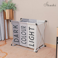 Shushi hotsell collapsible Waterproof laundry Basket folable dirty cloth storage bag X frame Portable laundry Organizer bucket