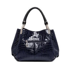 Image 4 - 2 bag/set  Fashion crocodile borse women totes lady handbag+purse/wallet carteras mujer big capacity black white shoulder kit