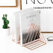 Креативный Настольный держатель, металлическая подставка для книг, сердце, треугольник, форма звезды, книжная полка, настольная, для дома, офиса, органайзер, принадлежности