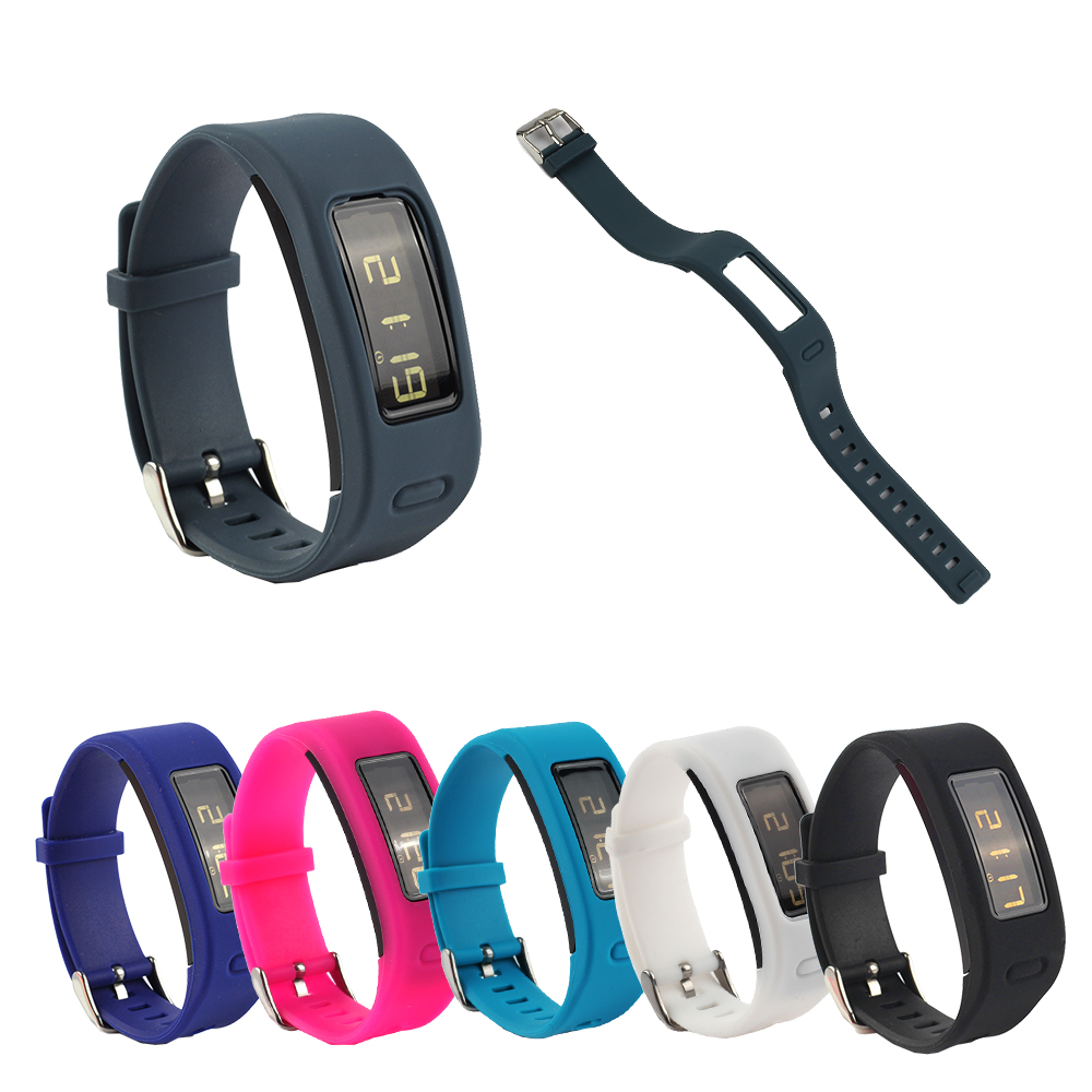 Wrist Strap For Garmin Vivofit 1 Silicone Replacement Watch Band With Metal Clasp Vivofit Smart Watch Bands Accessories