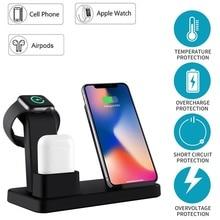 Новый 10 W Qi Беспроводной Зарядное устройство для iPhone X 8 Зарядное устройство 3 в 1 мобильный телефон быстро Зарядное устройство Quick Charge dock For Apple Watch 4 3 2 1