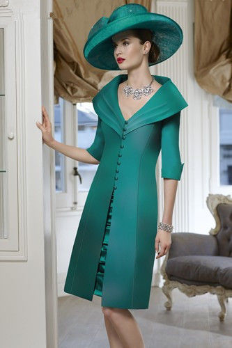 free shipping robe de soiree 2016 new vestido de madrinha bridal green short godmother Mother of the Bride Dresses with jacket