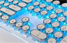 Retro Steam Punk Wired Mechanical Keyboard 87/104 Keys backlit LED for Gamer Computer Gaming keyboard decoration