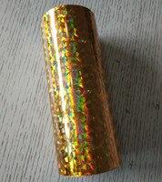 Hot stamping foil lamina olografica di vetro rotto pressa a caldo su carta o plastica color oro 16 cm x 120 m o 21 cm x 120 m