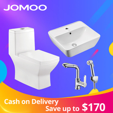 JOMOO Sanitary Set Self-Cleaning Glazing Toilet  Durable Seat One Piece Water Saving Basin  Faucet Sink Bidet Sprayer Shower Set
